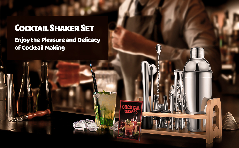 Professional Cocktail Shaker Set for Experienced Bartenders and Beginners