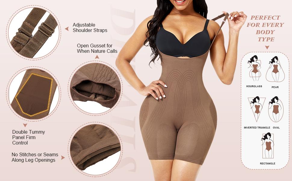 Details for body shaper bodysuit