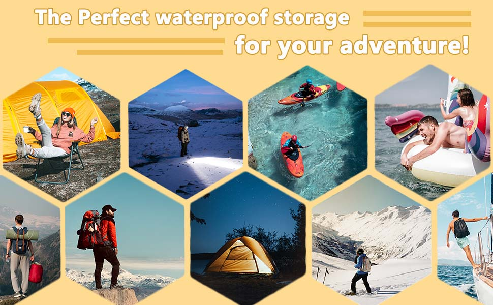 he Perfect waterproof storage for your adventure!