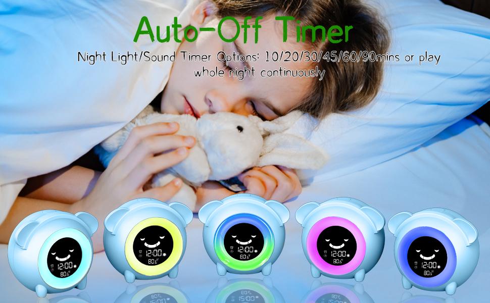 Kids Digital Alarm Clock Alarm Clock for Kids Wake Up Light Sleep Sound Machine