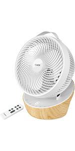 4UMOR ventilateur silencieux avec télécommande