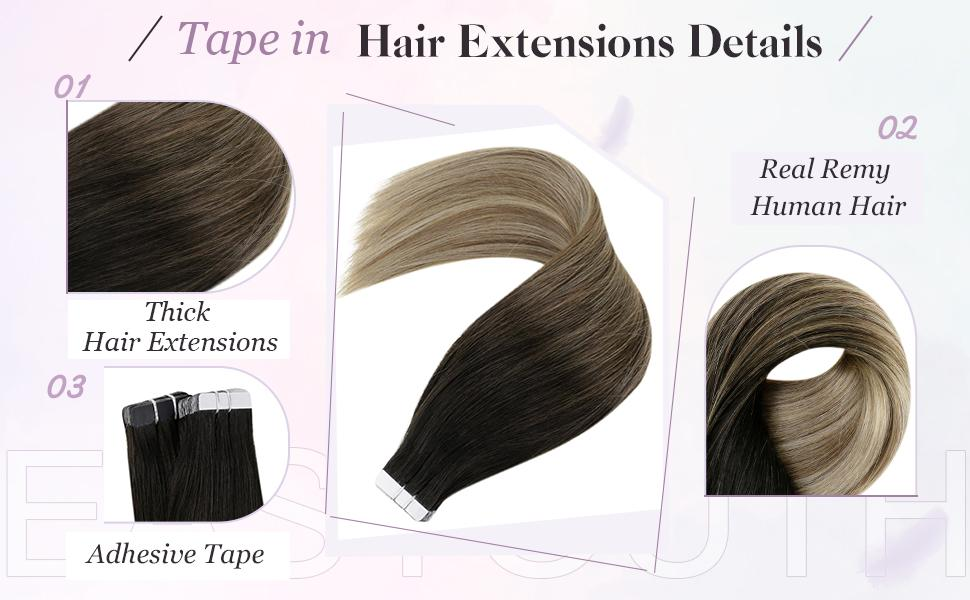 real remy human hair tape ins