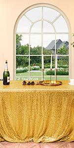 90*132 black sequin tablecloth