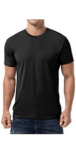 Menamp;#39;s Bamboo T-Shirt Crewneck Undershirt cotton shirt lightweight short sleeve orangic natural