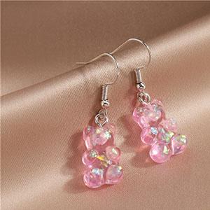 Funny Gummy Bear Earrings for Women Girls
