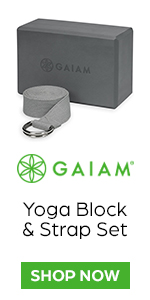Gaiam Yoga Block & Strap Set