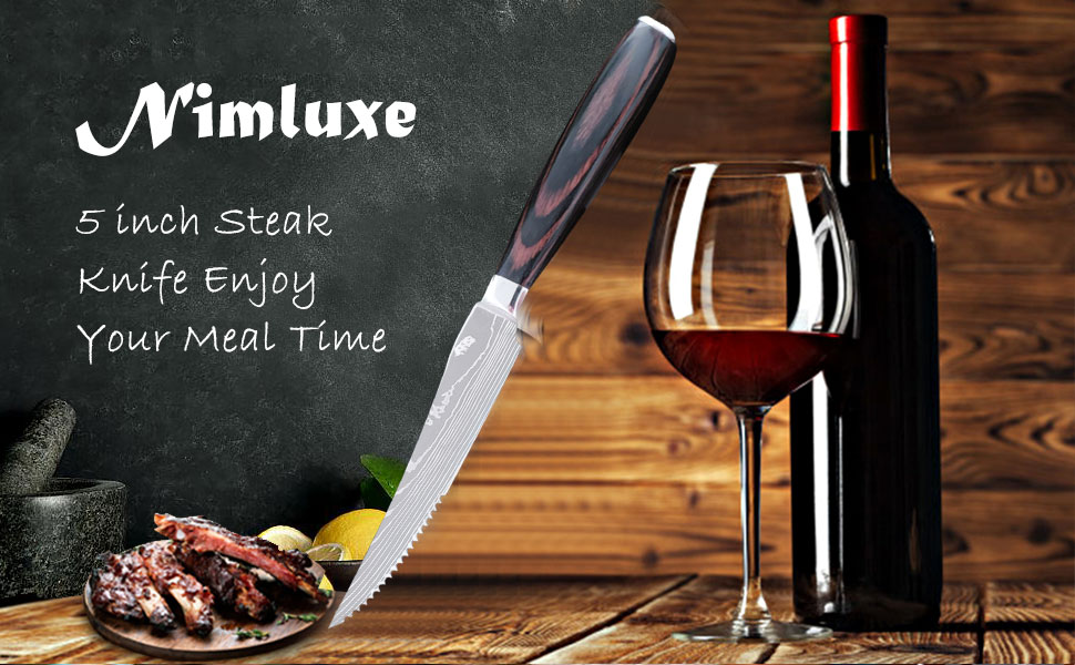 Professional High Carbon Stainless Steel Steak Knives