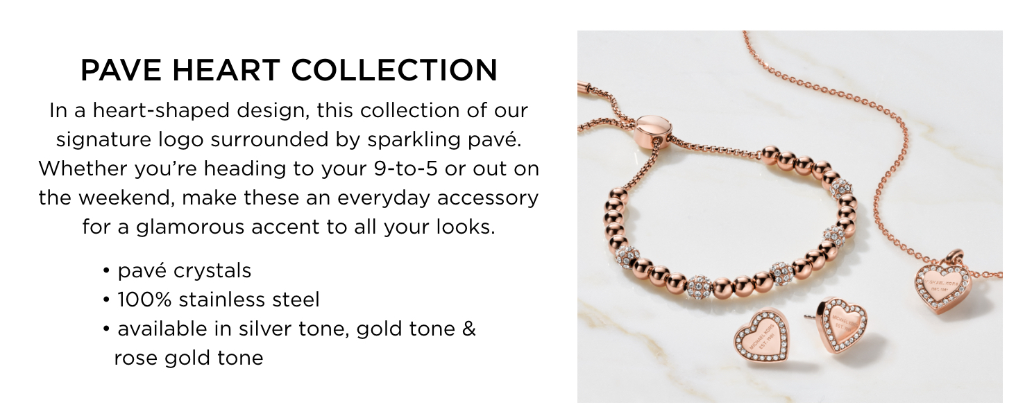 Pave Heart Collection Michael Kors