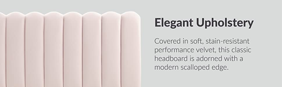 MOD-6318 Velvet Full/Queen Headboard, Pink