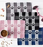 Collection of our woven buffalo check food mats