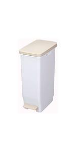 トンボ ゴミ箱 30L 日本製 フタ付き ペダル式 スリム ホワイト セパ 新輝合成