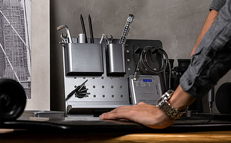 pegboard diy desk organizer metal peg board mesh desk organizer office storage rack office