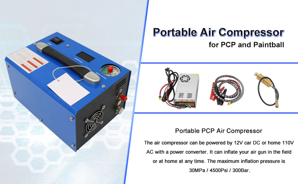 portable air compressor for pcp and paintball