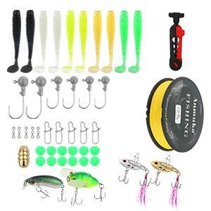 Fishing Lures, fishing hooks, fishing snaps, fishing beads, 2.5m/3.5m fishing line and line spooler