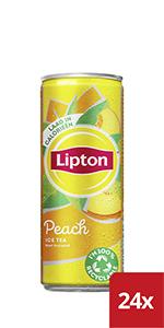 Lipton Peach Ice Tea blikjes is een verfrissende ijsthee met de smaak van perzik