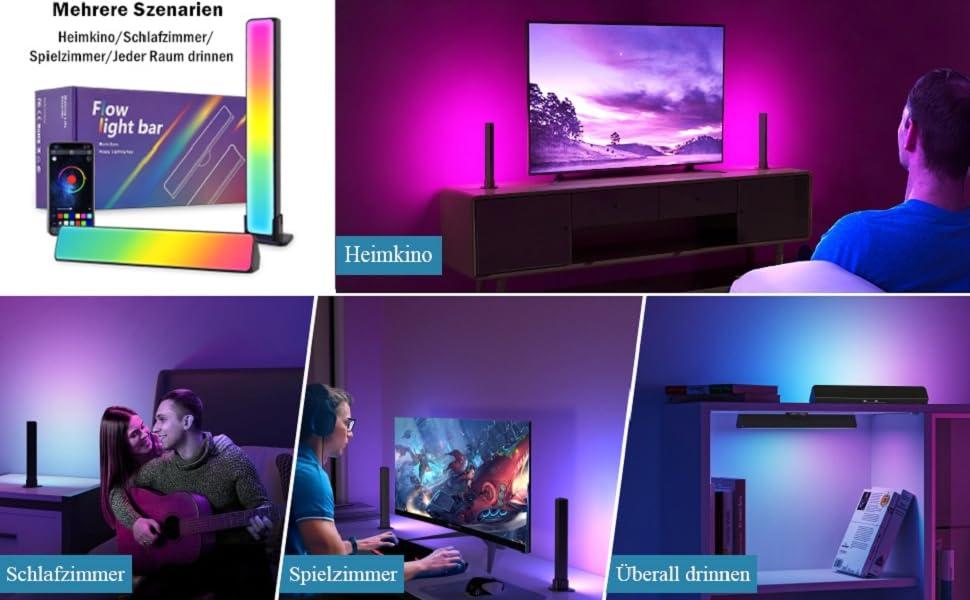 lampen led lampe gaming zubehör  zimmer deko led leiste gaming deko led licht led lights