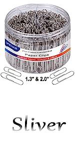 sliver paper clips