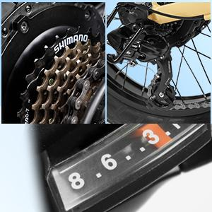 shimano derailleur bike tourney rear mountain speed parts altus  front gear shifter shifter