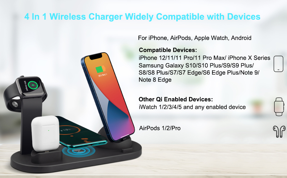 4 in 1 Wireless Charger for iPhone