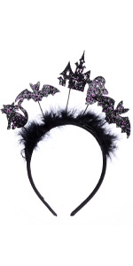 Halloween Bat Wing Headband Hat Costumes For Women Girls Cosplay Party Accessories
