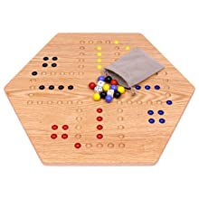 Aggravation Board, Wooden, Oak, Hand Painted, Double Sided