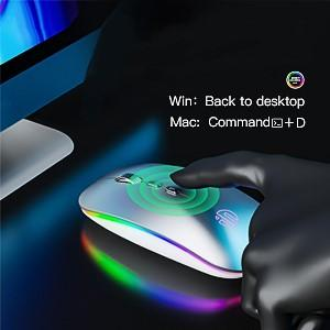 wireless mouse with led breathing lamp return desktop button rgb wireless mouse mac bluetooth mouse