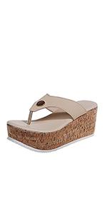 women flip flop wedge sandals