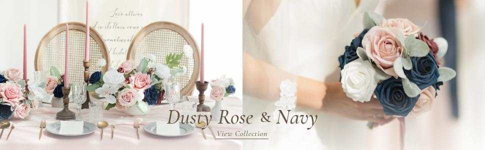 dusty rose amp; navy