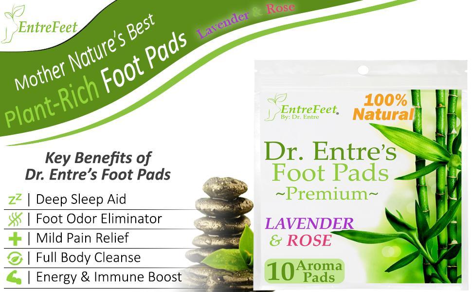 detox foot pads deep sleep aid lavender rose odor eliminator pain relief body cleanse toxins
