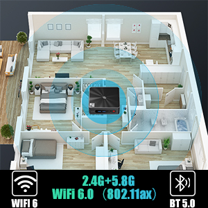 Bluetooth 5.0 / WIFI 6.0 (802.11ax)