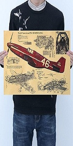 Aircraft Structure North American P51 B Mustang Design Figure