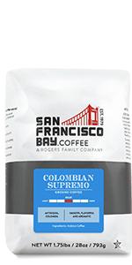 Colombian Supremo Ground Coffee 28 oz bag SF Bay Coffee