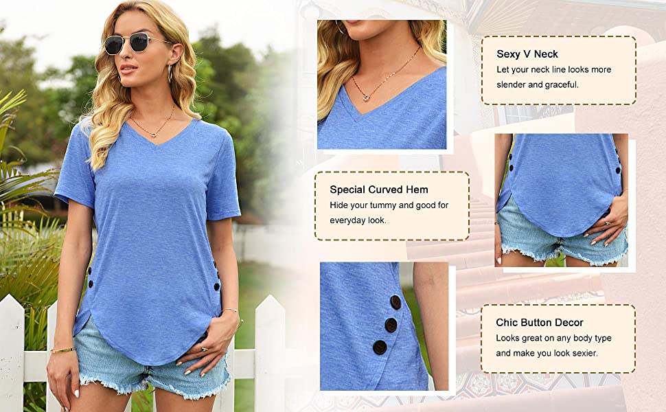 women button detail shirts