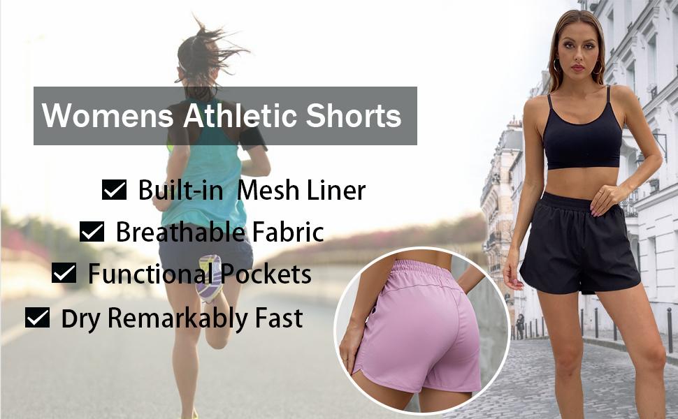 Aloodor Womens Shorts with Pockets