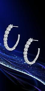Cubic Zirconia Earrings Swarovski Earrings Hoop Gifts for Women wedding earrings hypoallergenic