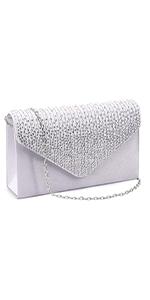 Ladies Satin Evening Clutch Purse Bag Handbags Party Prom Wedding Envelope
