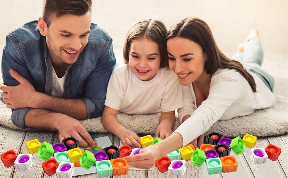 push bubble splicing building blocks toy pop it push pop bubble fidget stress relief toys