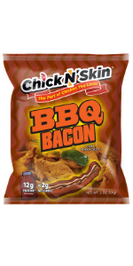 Crispy fried chicken skins - bbq bacon keto low carb high protein chips gluten free snacks