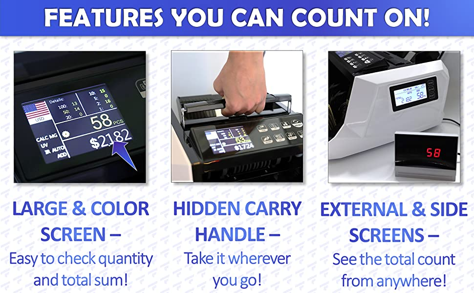 taskfile money counter with counterfeit bill detection bill counter