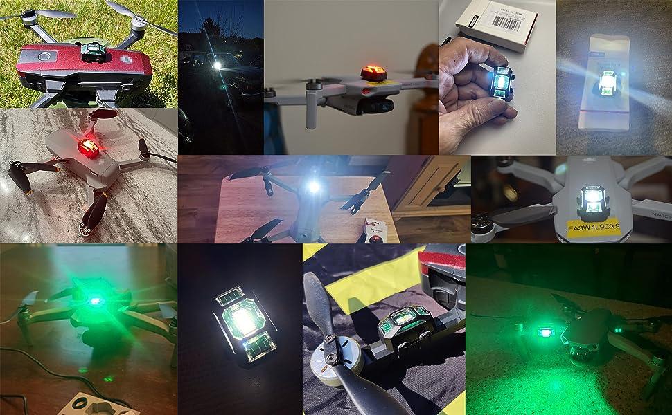 drones strobe light