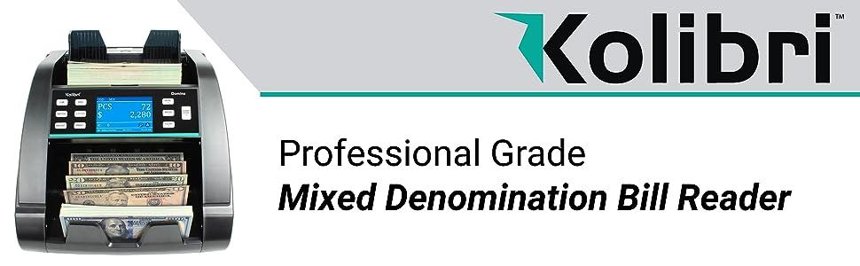 Kolibri Domino - Professional Grade Mixed Denomination Bill Reader