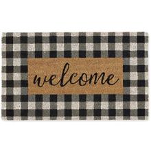 Welcome Checkered Doormat