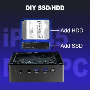 iPC45 Mini PC DIY SSD/HDD