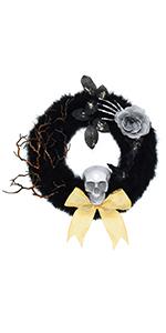 Halloween Door Wreath Black Wreath