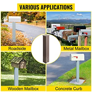 plow resistant mailbox post