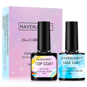 Glitter top coat shiny top coat gel nail polish base coat  top and base coat