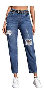 Womenamp;amp;amp;#39;s High Waist Ripped Jeans