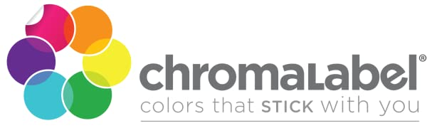 Chromalabel logo; colors that stick with you.