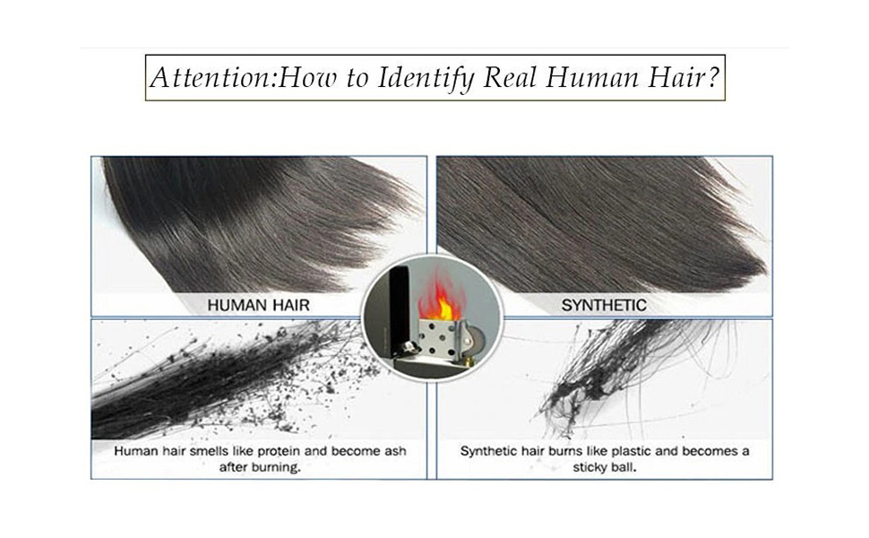 How to identify real human hair