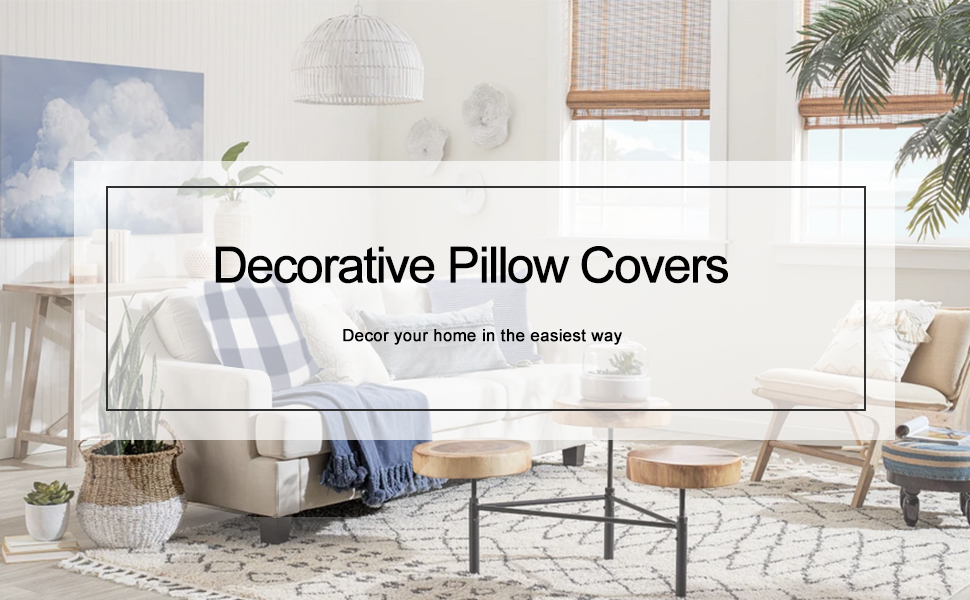 navy pillow covers